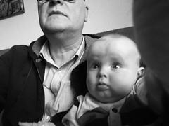 Alright, Aaron, perhaps we could practice that selfie thing a bit more. Waddoyou think? (wwwuppertal) Tags: selfie doubleportrait doppelportrait doppelkopf opa enke granddad grandfather enkel enkelkind grandchild grandson grandpa liebe love zuneigung affection apple iphone6splus cellphonephotography mobilephonephotography handyfoto schwarzweis bw blackandwhite noiretblanc blancetnoir monochrome monochrom