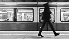 street 03 (mio schweiger | photography) Tags: blackandwhite mio schweiger monochrome photography berlin people city lights subway daily life