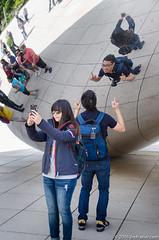 (Jim Frazier) Tags: 2016 bean chicago city cloudgate day downtown il illinois jimfraziercom loop may millenium park selfies selfiesatthebean spring summer urban q3