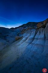 First stars (Kasia Sokulska (KasiaBasic)) Tags: canada alberta drumheller hoodoos fujix landscape rockformations bluehour