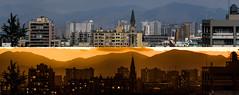 pano dia noche 25-10-2016 (javier_carras) Tags: pentax panoramic k3 night citylights skyline colors tungsten park horizon pentaxsmc beautiful santiago chile cityscape sunset contrast