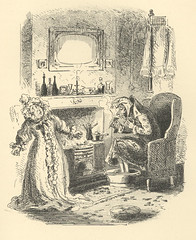The Couple Who Coddle Themselves (Rescued by Rover) Tags: phiz illustration dickens sketches boz victorian characters dress costume couple fire domestic footbath nightcap nightgown