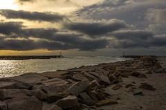 Morning Sky (Bud in Wells, Maine) Tags: wellsbeach webhannetriver breakwater wells maine jetty clouds autumn