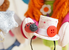 Uau, Fadinha, você fez uma mágica e ela apareceu, obrigada! (Ateliê Bonifrati) Tags: tiara cute diy craft tutorial pap joaninha littlehat tecidos cartola passoapasso bonifrati façavocêmesmo hatfabric
