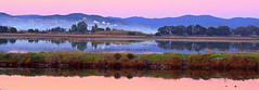 Soleil couchant sur les salins...... (Malain17) Tags: world blue panorama france reflection water colors french photography photo eau europa europe flickr photographie shot image earth couleurs picture panoramic best bleu explore provence capture paysage reflets coucherdesoleil salins globalaward2014