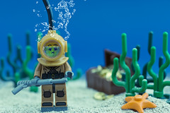 Deep Sea Diver (Sad Old Biker) Tags: pictures ocean desktop sea wallpaper fish man seaweed cute art beach wet water pool river poster gold shark boat photo cool bed funny ship tank treasure floor lego bell fig starfish sale lol background air awesome chest helmet pipe bubbles diving mini images best suit card buy diver sunken leak lmao ever coolest cutest weight fill spear rofl queasy kevinpoulton sadoldbiker finniest