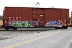 Pemer Koi (BombTrains) Tags: road railroad horse art train bench graffiti paint tag graf rail spray koi graff ich learn freight ld ichabod hbk sfl fr8 nbd 2011 20031 benching ykr pemer