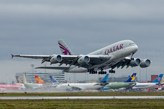 Qatar Airways Airbus A380 (Rami Khanna-Prade) Tags: canon aircraft airbus a380 toulouse avion tls rami qatar 70200mm qtr airbusindustrie superheavy a380800 a388 lfbo a380861 fwwsg aeroporttoulouseblagnac 5dmkiii toulouseblagnacairport msn160 a7apd ramikhannaprade