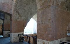 Trajan's Market gallery piers