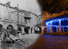 The Grain Market place in Auvillar ... Now and then ... (David B. - just passed the 7 million views. Thanks) Tags: christmas street plaza new xmas old blackandwhite white black france color colour cars car river square lights town hall ancient downtown place postcard riviere 19thcentury illuminations 21st bank rivière berge pont grains then arcades noël now riverbank 20thcentury rue tarn halle recent mairie 19th 1905 1900s nowadays a77 2000s 21stcentury vallée tarnetgaronne midipyrénées 1650 auvillar 2013 centertown halleauxgrains 2010s a77v sonyalpha77 sony165028ssm sonydslta77v