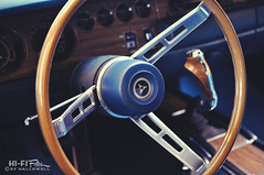 Mopar Cockpit (Hi-Fi Fotos) Tags: blue wheel speed prime nikon steering pov interior 4 shift cockpit gear dash american micro pistol dodge driver stick mopar manual 40mm nikkor grip rt charger musclecar d5000 hallewell hififotos