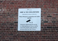 HMP and YOI Chelmsford (Stuart Axe) Tags: city uk greatbritain england wall unitedkingdom cctv prison jail gb springfield 1979 essex porridge gaol chelmsford hmp springfieldroad yoi sandfordroad hermajestysprison countytown countyofessex youngoffenderinstitution cityofchelmsford