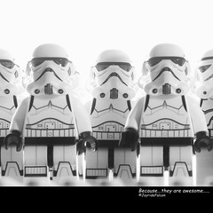 Because....they are awesome.. (joyridefalcon) Tags: toy starwars lego stormtrooper minifig minifigures