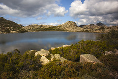 Reflection (Sroub) Tags: sky lake mountains reflection portugal water clouds rocks stones porteladohomem penedageresnationalpark