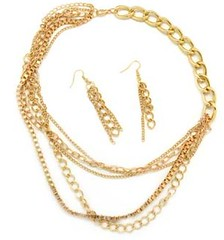 5th Avenue Gold Necklace P2011-3