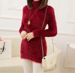 Womens Casual Long Sleeve Knitwear mohair Cardigan Long Sweater Coat Turtleneck (Mytwist) Tags: new sweater long coat womens jacket mohair casual sleeve cardigan knitwear yangyuke13