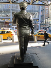 Ralph Kramden on a Sunny Day 3638 (Brechtbug) Tags: new york city winter holiday cold bus weather statue bronze port lunch is jackie uniform day authority january tie sunny front terminal an midtown his while chilly jolly gleason ralph stands drivers straightening pail clutching clad manhattans honeymooners 2015 kramden eightfoottall kramdon 01082015