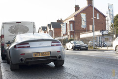 Face Off. (Stuartyvilla) Tags: belfast audi supercar aston exotics supercars combo r8 carspotting carspotter autogespot exoticars exoticspotter exoticcarspotting stuartyvilla carspottinguk astonmartinvantage2005 supercarsinthestreet