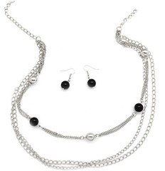 5th Avenue Black Necklace P2110A-3