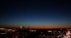 Venus (and Mars) over Washington (wolfpackWX) Tags: city sky orange sun cold monument nature night stars landscape star landscapes washington twilight space