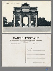 PARIS - L'Arc des Tuileries (bDom [+ 3 Mio views - + 40K images/photos]) Tags: paris 1900 oldpostcard cartepostale bdom