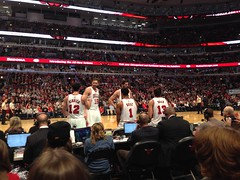 "Pau Gasol, Nikola Mirotic, Kirk Hinrich, Derrick Rose, and Joakim Noah • <a style=""font-size:0.8em;"" href=""http://www.flickr.com/photos/109120354@N07/16314958085/"" target=""_blank"">View on Flickr</a>"