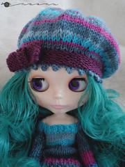 Multi-color beret for Blythe