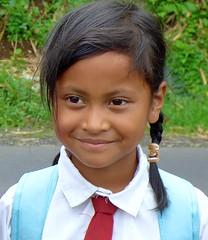 Little schoolgirl . (Franc Le Blanc .) Tags: portrait bali girl lumix child panasonic ujung