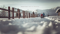 A volte l'amore é per sempre (Paolo Martinez) Tags: snow blur typography mood bokeh outdoor emotive grafica 6d 50mml peopleenjoyingnature