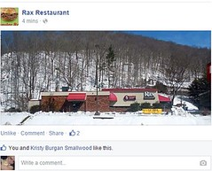 Rax used my photo as their TL cover! (xandai) Tags: snow storm retail shopping kentucky ky fastfood snowstorm cleanup blizzard pandora harlan octavia winterstorm justified harlancounty southeasternkentucky justifiedfx