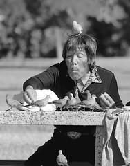 Bird Man (Kimages2c) Tags: man bird hawaii oahu homeless honolulu