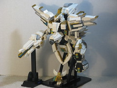 The Great Sacred Treasure (Normal Mode) (ExclusivelyPlastic) Tags: art japan design robot video kid lego bricks nintendo games figure icarus mythology mecha uprising mech poseable