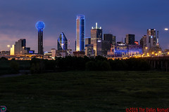 Dallas - All for One, One for All (The Dallas Nomad (on Hiatus)) Tags: dallas texas skyline architecture trinity river embankment solidarity sunset lights night outdoor
