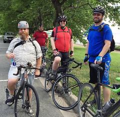 Brook, Julio, Danny, Michael at Hains (Mr.TinDC) Tags: friends people cyclists michael washingtondc dc julio danny brook hainspoint