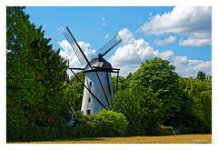Stendener Mhle in Kerken-Stenden am Niederrhein (Babaou) Tags: windmill deutschland mhle nrw dxo molen windmolen niederrhein kerken stenden turmwindmhle