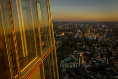 Sunset Reflected in the Shard (Daniel Coyle) Tags: uk sunset england sun london skyline reflections nikon horizon oval theoval centrallondon londonskyline cricketground sunsetoverlondon d7100 theshard stratase1 danielcoyle nikond7100 sunsetovercentrallondon sunsetreflectedintheshard