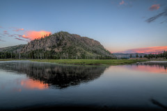Waiting for the Sun (JeffMoreau) Tags: yellowstone national park madison river campground sunrise reflection fog morning wyoming nps findyourpark