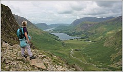 Worth the effort 2. (stu.bloggs..Dont do Sundays) Tags: buttermere crummockwater lakedistrict haystacks ascent mrsbloggs views vista viewing climbing hiking walking lakes lakeland july 2016 summer rocks rockyoutcrops valley stream gatesgarth melbreak grasmoor buttermeremoss colour landscape fells mountains