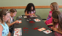 Natalie, Jocelyn, Natalyia, Megan, Jula (ACPL) Tags: fortwaynein acpl allencountypubliclibrary georgetown geo teenthursday bingo