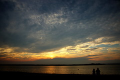 together (judecat (getting back to nature)) Tags: nature couple sharing bay water sunsetlake wildwood newjersey