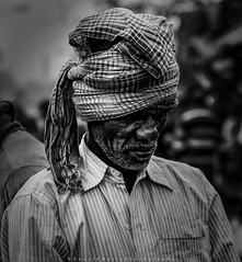   The Turban Man   (SouvikMetiaPhotography) Tags: portrait people face beard turban street streetphotography kolkata asia india nikon flickr monochrome blackandwhite documentary contrast