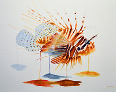 lionfish watercolor (kennethfigurski) Tags: fish lionfish color colorful