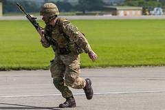 Royal Marines, commando assault demo (Sam Wise) Tags: station air navy royal somerset british marines naval forces commando armed yeovilton