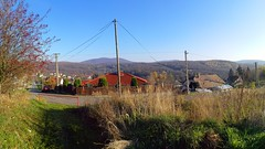 Autumn panorama (golyakj) Tags: komlo komló magyarország magyar hungary autumn panorama experimental colours forest town street outdoor sky sunny sun landscape scenery skyline hills