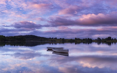 Rusgaidh (J McSporran) Tags: scotland trossachs lochlomondandtrossachsnationalpark lochrusky mirrorimage morning reflections boats rowingboat landscape canon6d ef1635mmf4lisusm