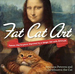 Fat Cat Art: Famous Masterpieces Improved by a Ginger Cat with Attitude (1800PetsAndVets.com) Tags: attitude famous ginger improved masterpieces
