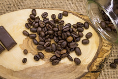 Coffee Beans (vuralyavas) Tags: wood brown texture cup kitchen glass coffee design wooden interior board decoration seed straw tasty indoor bean seeds pot mat mug jar chopping interiordecoration interiordesign choppingboard tasteful coffeemaker coffeebeans coffeeseeds