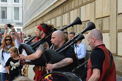 Rocking the pipes (quinet) Tags: 2014 dresden dudelsack germany ohrenpeyn saxony bagpipes cornemuses medievalrock