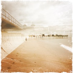 (Marklucylockett) Tags: teignmouth mark lucy lockett july beach marklucylockett teignmouthpier hipstamatic doubleexposure 2016 devon
