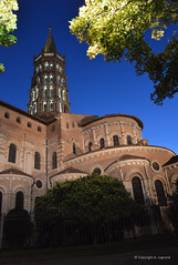 28 copie (legrand205) Tags: nuit sernin toulouse europe eglise roman romane brique pierre edificio unesco extrieur